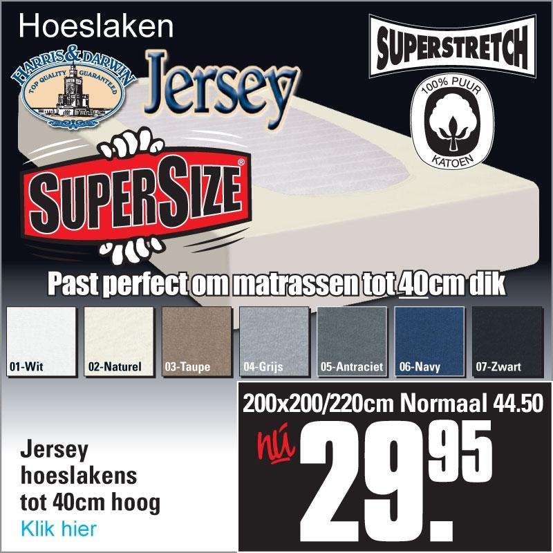 Jersey Hoeslaken XL