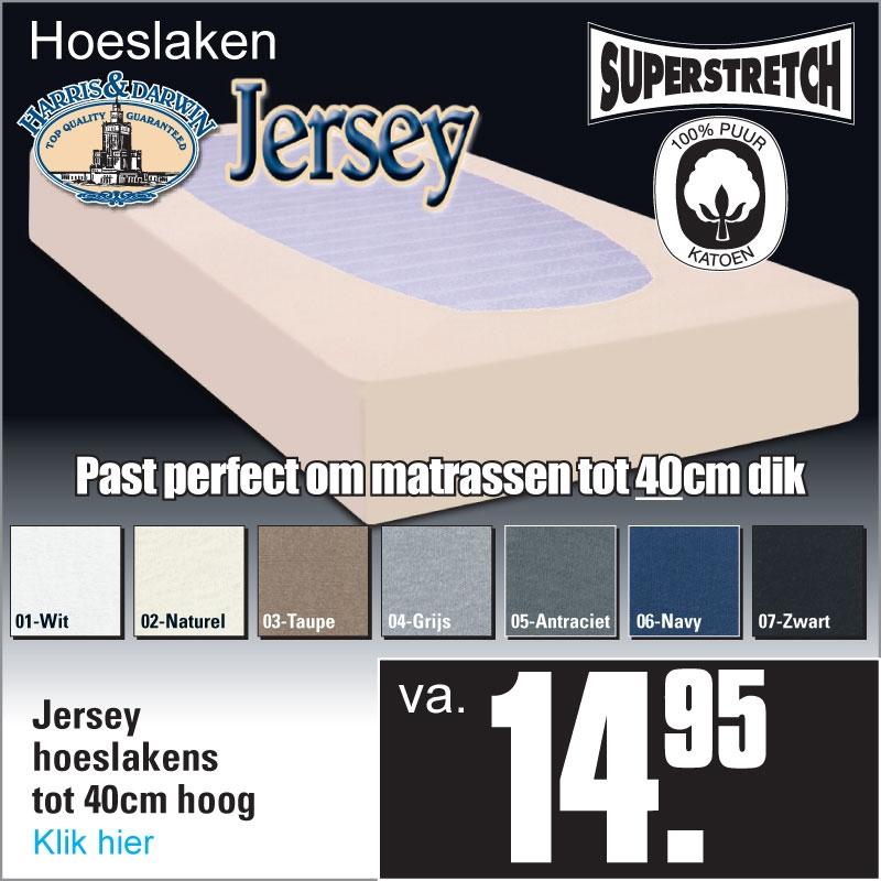 Jersey Hoeslakens
