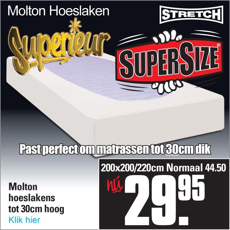 Molton Hoeslaken XL