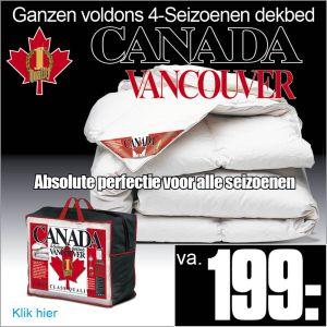 Ganzendonzen 4-Seizoenen Dekbed Vancouver