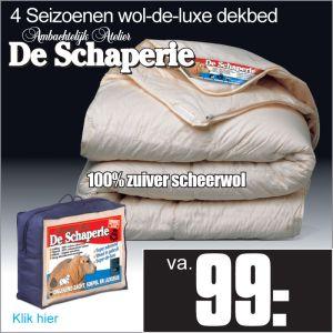 Schaperie 4-Seizoenen Dekbed Wollen