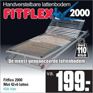 Fit-Flex 2000 Verstelbare 42-Lats Lattenbodem