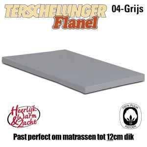 Flanellen Topper Hoeslakens Terschellinger Grijs