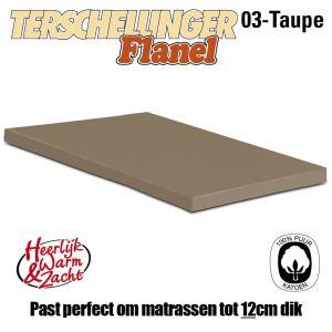 Flanellen Topper Hoeslakens Terschellinger Taupe