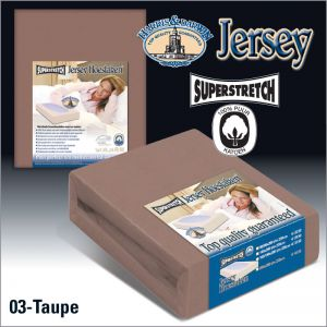 Jersey Hoeslaken Taupe Superstretch
