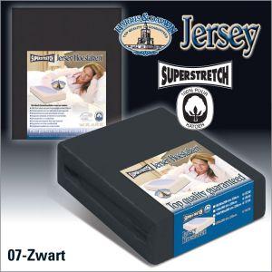 Jersey Hoeslaken Zwart Superstretch