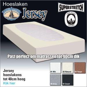 Jersey Superstretch Hoeslaken 40cm Hoog