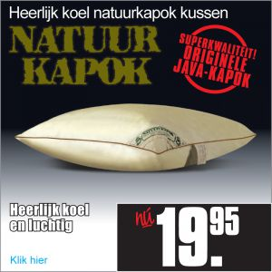 natuurkapok hoofdkussen 60x70cm