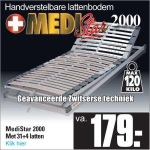 Medi-Star 2000 Verstelbare 31-Lats Lattenbodem