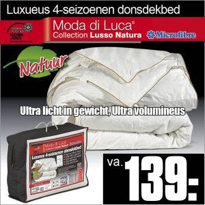 100% Donzen 4-Seizoenen Dekbed Lusso Natura