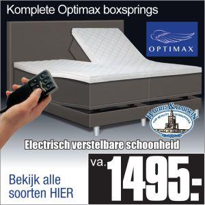 Optimax Zwart Electrische Boxspring
