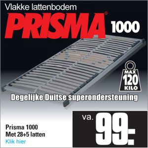 Prisma 1000 vlakke 28-Lats Lattenbodem