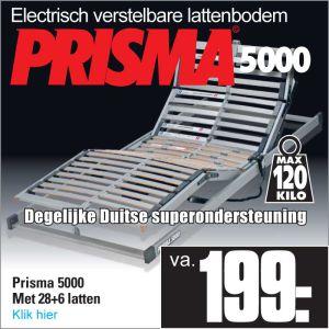 Prisma 5000 Electrisch verstelbare 28-Lats Lattenbodem