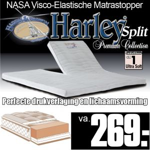 Harley© Nasa Visco Traagschuim Luxe Split Topper