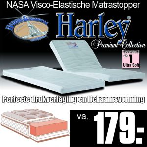 Harley© Nasa Visco Traagschuim Luxe MatrasTopper
