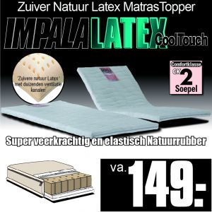 IMPALA LATEX CoolTouch Matras Topper