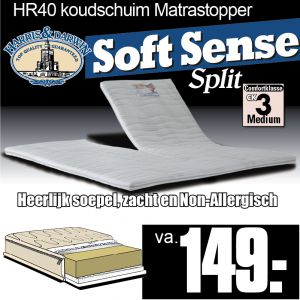 SoftSense SPLIT-Topper HR40 Koudschuim
