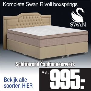 Komplete Stevige Leatherlook Boxspring Swan Rivoli©