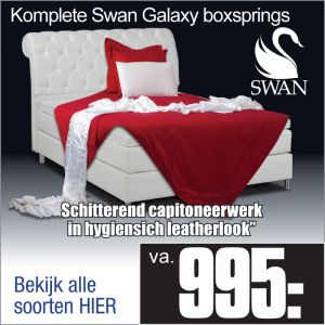 Komplete Leatherlook Boxspring Swan Galaxy