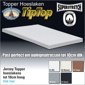 Jersey Toppermatras Hoeslaken 10cm Hoog